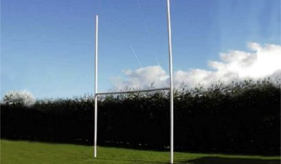Junior Rugby Posts – high impact PVC – Total height 4.72m x 2.7m wide